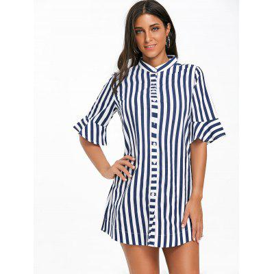 Bell Sleeve Striped Tunic ShirtBlouses<br>Bell Sleeve Striped Tunic Shirt<br><br>Collar: V-Neck<br>Material: Polyester<br>Package Contents: 1 x Shirt<br>Pattern Type: Stripe<br>Season: Fall, Spring<br>Shirt Length: Long<br>Sleeve Length: Three Quarter<br>Style: Casual<br>Weight: 0.2300kg