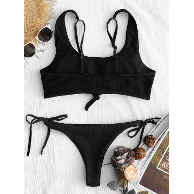 Ribbed String Low Waist Bikini SetLingerie &amp; Shapewear<br>Ribbed String Low Waist Bikini Set<br><br>Bra Style: Padded<br>Elasticity: Elastic<br>Gender: For Women<br>Material: Nylon, Spandex<br>Neckline: Plunging Neck<br>Package Contents: 1 x Bra  1 x Briefs<br>Pattern Type: Solid Color<br>Support Type: Wire Free<br>Swimwear Type: Bikini<br>Waist: Low Waisted<br>Weight: 0.2500kg