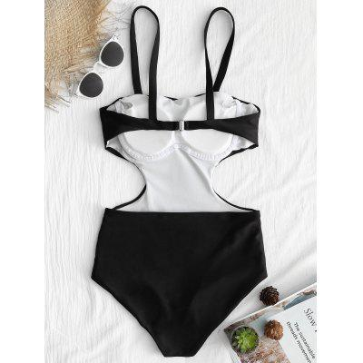 Low Back Cami Strap One Piece SwimsuitLingerie &amp; Shapewear<br>Low Back Cami Strap One Piece Swimsuit<br><br>Bra Style: Padded<br>Elasticity: Elastic<br>Embellishment: Backless<br>Gender: For Women<br>Material: Nylon, Spandex<br>Neckline: Spaghetti Straps<br>Package Contents: 1 x Swimsuit<br>Pattern Type: Solid Color<br>Style: Sexy<br>Support Type: Wire Free<br>Swimwear Type: One Piece<br>Waist: Natural<br>Weight: 0.2500kg
