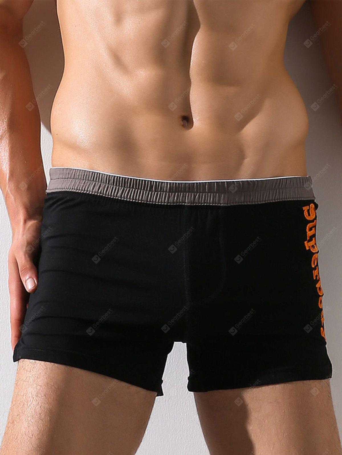 Elastische Taille Graphic Embroidered Boxer Brief