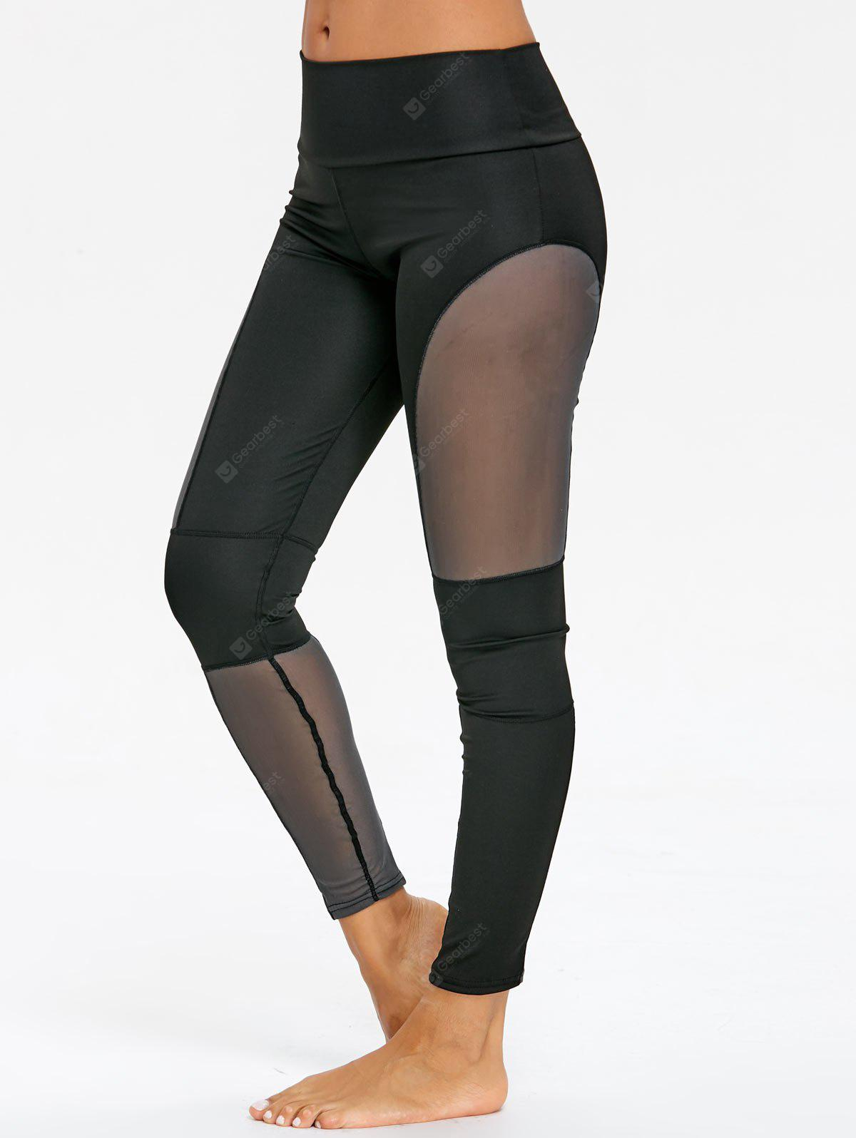 See Through Mesh Panel Gym Leggings