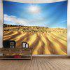 Desert Pattern Wall Hanging Tapestry - BLUE AND YELLOW