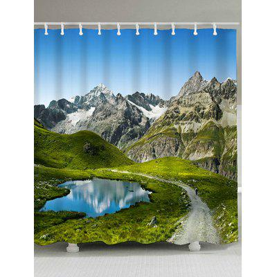 Natural Landscape Print Waterproof Polyester Shower Curtain