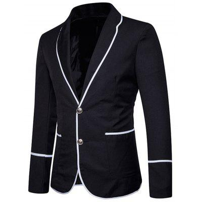 Casual Single Breasted Edging BlazerMens Blazers<br>Casual Single Breasted Edging Blazer<br><br>Closure Type: Single Breasted<br>Material: Polyester<br>Package Contents: 1 x Blazer<br>Shirt Length: Regular<br>Sleeve Length: Long Sleeves<br>Weight: 0.5500kg