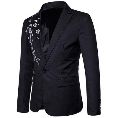 Floral Embroidery One Button Casual BlazerMens Blazers<br>Floral Embroidery One Button Casual Blazer<br><br>Closure Type: Single Breasted<br>Material: Polyester<br>Package Contents: 1 x Blazer<br>Shirt Length: Regular<br>Sleeve Length: Long Sleeves<br>Weight: 0.5800kg
