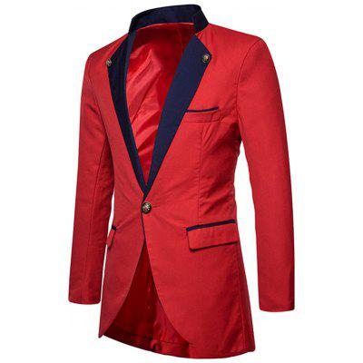 One Button High Low Hem Long BlazerMens Blazers<br>One Button High Low Hem Long Blazer<br><br>Closure Type: Single Breasted<br>Material: Polyester<br>Package Contents: 1 x Blazer<br>Shirt Length: Long<br>Sleeve Length: Long Sleeves<br>Weight: 0.6400kg