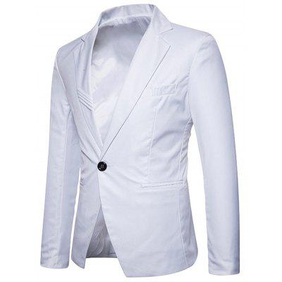 Lapel Collar One Button Brief BlazerMens Blazers<br>Lapel Collar One Button Brief Blazer<br><br>Closure Type: Single Breasted<br>Material: Polyester<br>Package Contents: 1 x Blazer<br>Shirt Length: Regular<br>Sleeve Length: Long Sleeves<br>Weight: 0.6200kg