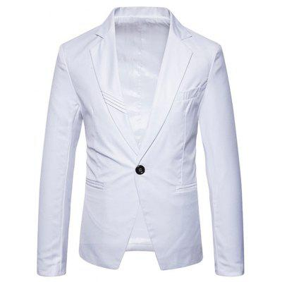 Buy WHITE 2XL Lapel Collar One Button Brief Blazer for $55.69 in GearBest store