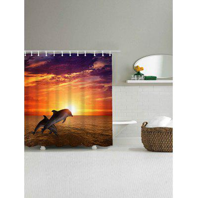 Sunset Jumping Dolphin Waterproof Bath CurtainShower Curtain<br>Sunset Jumping Dolphin Waterproof Bath Curtain<br><br>Materials: Polyester<br>Number of Hook Holes: W59 inch*L71 inch: 10; W71 inch*L71 inch: 12; W71 inch*L79 inch: 12<br>Package Contents: 1 x Shower Curtain 1 x Hooks (Set)<br>Pattern: Animal<br>Products Type: Shower Curtains<br>Style: Fashion