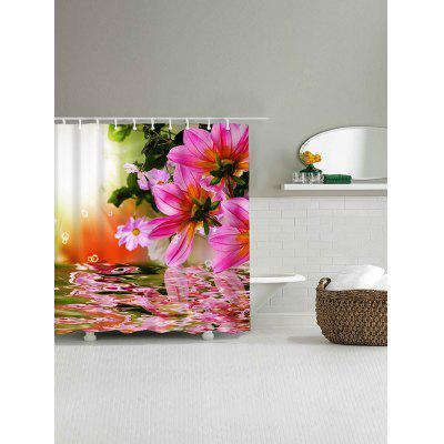 Flower Reflection Print Waterproof Shower CurtainShower Curtain<br>Flower Reflection Print Waterproof Shower Curtain<br><br>Materials: Polyester<br>Number of Hook Holes: W59 inch*L71 inch: 10; W71 inch*L71 inch: 12; W71 inch*L79 inch: 12<br>Package Contents: 1 x Shower Curtain 1 x Hooks (Set)<br>Pattern: Floral<br>Products Type: Shower Curtains<br>Style: Fashion