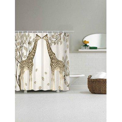 Giraffe Couple Print Waterproof Polyester Shower CurtainShower Curtain<br>Giraffe Couple Print Waterproof Polyester Shower Curtain<br><br>Materials: Polyester<br>Number of Hook Holes: W59 inch*L71 inch: 10; W71 inch*L71 inch: 12; W71 inch*L79 inch: 12<br>Package Contents: 1 x Shower Curtain 1 x Hooks (Set)<br>Pattern: Animal,Plant<br>Products Type: Shower Curtains<br>Style: Romantic