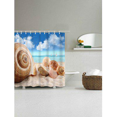 Beach Conch Shell Print Waterproof Shower CurtainShower Curtain<br>Beach Conch Shell Print Waterproof Shower Curtain<br><br>Materials: Polyester<br>Number of Hook Holes: W59 inch*L71 inch: 10; W71 inch*L71 inch: 12; W71 inch*L79 inch: 12<br>Package Contents: 1 x Shower Curtain 1 x Hooks (Set)<br>Products Type: Shower Curtains<br>Style: Beach Style