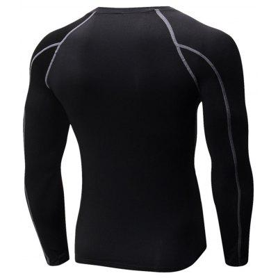 Suture Quick Dry Stretchy Long Sleeve T-shirtSport Clothing<br>Suture Quick Dry Stretchy Long Sleeve T-shirt<br><br>Elasticity: Elastic<br>Material: Polyester, Spandex<br>Package Contents: 1 x T-shirt<br>Pattern Type: Solid<br>Type: T-Shirt<br>Weight: 0.2700kg