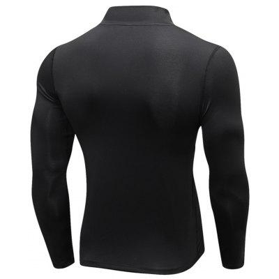 Stand Collar Half Zip Quick Dry Stretchy T-shirtStand Collar Half Zip Quick Dry Stretchy T-shirt<br><br>Elasticity: Elastic<br>Material: Polyester, Spandex<br>Package Contents: 1 x T-shirt<br>Pattern Type: Solid<br>Type: T-Shirt<br>Weight: 0.3000kg