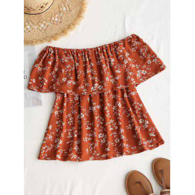 Off Shoulder Flounce Flower Print BlouseBlouses<br>Off Shoulder Flounce Flower Print Blouse<br><br>Collar: Off The Shoulder<br>Material: Polyester<br>Occasion: Casual<br>Package Contents: 1 x Blouse<br>Pattern Type: Floral<br>Shirt Length: Regular<br>Sleeve Length: Short<br>Style: Casual<br>Weight: 0.2000kg