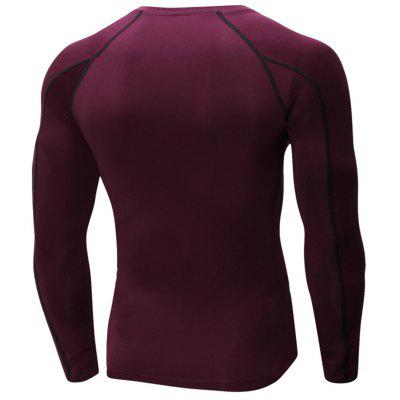 Suture Quick Dry Stretchy Long Sleeve T-shirtSuture Quick Dry Stretchy Long Sleeve T-shirt<br><br>Elasticity: Elastic<br>Material: Polyester, Spandex<br>Package Contents: 1 x T-shirt<br>Pattern Type: Solid<br>Type: T-Shirt<br>Weight: 0.2700kg