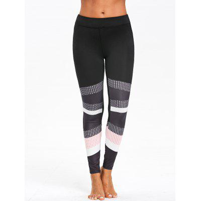 Graphic Color Block Skinny Leggings