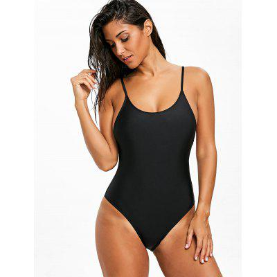 Backless Cami High Cut One Piece SwimsuitLingerie &amp; Shapewear<br>Backless Cami High Cut One Piece Swimsuit<br><br>Bra Style: Unlined<br>Elasticity: Elastic<br>Embellishment: Backless<br>Gender: For Women<br>Material: Polyester, Spandex<br>Neckline: Spaghetti Straps<br>Package Contents: 1 x Swimsuit<br>Pattern Type: Solid Color<br>Style: Sexy, Sport<br>Support Type: Wire Free<br>Swimwear Type: One Piece<br>Waist: High Waisted<br>Weight: 0.1700kg