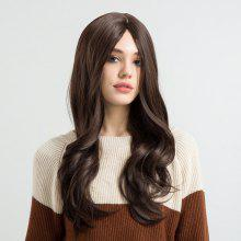 Long Center Parting Wavy Synthetic Fiber Wig
