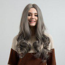 Center Parting Long Wavy Capless Synthetic Wig