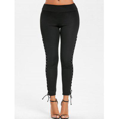 Lace Up Leggings with GrommetPants<br>Lace Up Leggings with Grommet<br><br>Elasticity: Elastic<br>Material: Polyester, Spandex<br>Package Contents: 1 x Leggings<br>Pattern Type: Solid<br>Style: Fashion<br>Waist Type: Mid<br>Weight: 0.2500kg