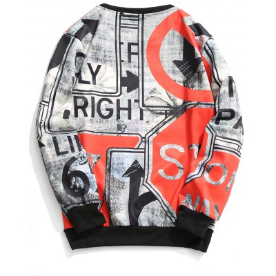 Street Signs Print SweatshirtMens Hoodies &amp; Sweatshirts<br>Street Signs Print Sweatshirt<br><br>Material: Polyester<br>Package Contents: 1 x Sweatshirt<br>Pattern Type: Letter<br>Shirt Length: Regular<br>Sleeve Length: Full<br>Style: Casual<br>Weight: 0.4650kg