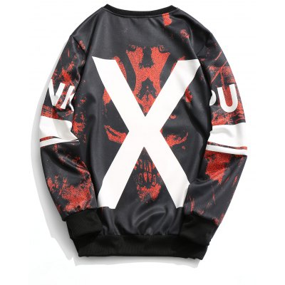 Crew Neck X Graphic SweatshirtMens Hoodies &amp; Sweatshirts<br>Crew Neck X Graphic Sweatshirt<br><br>Material: Cotton, Polyester<br>Package Contents: 1 x Sweatshirt<br>Pattern Type: Graphic<br>Shirt Length: Regular<br>Sleeve Length: Full<br>Style: Casual<br>Weight: 0.4600kg
