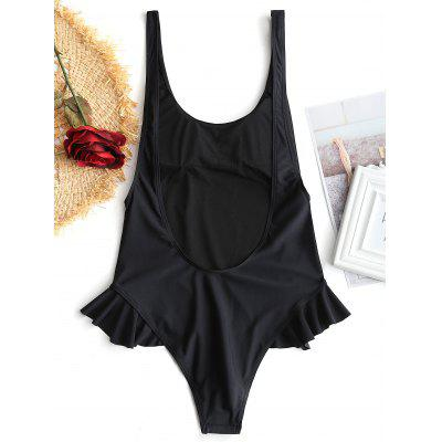 Low Back Ruffles One Piece SwimwearLingerie &amp; Shapewear<br>Low Back Ruffles One Piece Swimwear<br><br>Bra Style: Padded<br>Elasticity: Elastic<br>Gender: For Women<br>Material: Chinlon<br>Neckline: Scoop Neck<br>Package Contents: 1 x Swimwear<br>Pattern Type: Solid Color<br>Support Type: Wire Free<br>Swimwear Type: One Piece<br>Waist: Natural<br>Weight: 0.2000kg