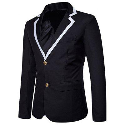 Edging Lapel Collar Single Breasted BlazerMens Blazers<br>Edging Lapel Collar Single Breasted Blazer<br><br>Closure Type: Single Breasted<br>Material: Polyester<br>Package Contents: 1 x Blazer<br>Shirt Length: Regular<br>Sleeve Length: Long Sleeves<br>Weight: 0.5900kg