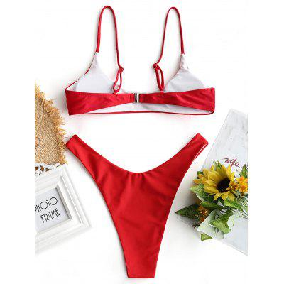 Padded High Cut Bikini SetLingerie &amp; Shapewear<br>Padded High Cut Bikini Set<br><br>Bra Style: Padded<br>Elasticity: Elastic<br>Gender: For Women<br>Material: Chinlon<br>Neckline: Spaghetti Straps<br>Package Contents: 1 x Top  1 x Briefs<br>Pattern Type: Solid Color<br>Style: Sexy<br>Support Type: Wire Free<br>Swimwear Type: Bikini<br>Waist: Natural<br>Weight: 0.1900kg