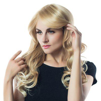 Long Side Parting Colormix Wavy Synthetic Fiber Wig long side parting fluffy layered wavy synthetic wig
