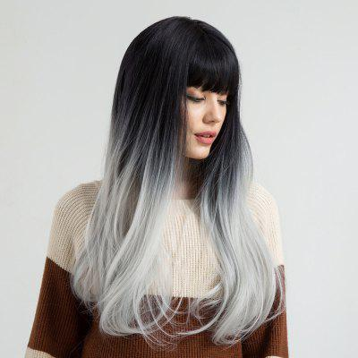Long Full Fringe Ombre Straight Synthetic Wig