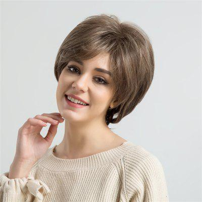 Short Side Bang Capless Straight Synthetic Wig short