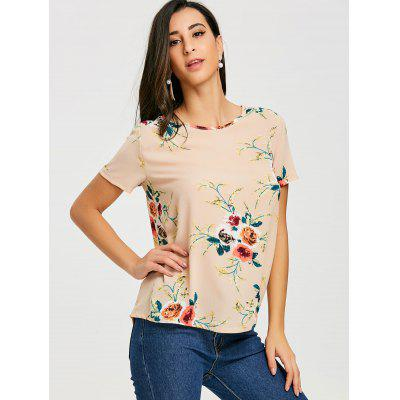 Casual Short Sleeve Floral T-shirtTees<br>Casual Short Sleeve Floral T-shirt<br><br>Collar: Round Neck<br>Material: Polyester<br>Package Contents: 1 x T-shirt<br>Pattern Type: Floral<br>Season: Summer, Spring<br>Shirt Length: Regular<br>Sleeve Length: Short<br>Style: Fashion<br>Weight: 0.1800kg