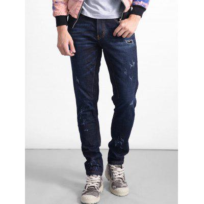 Zip Fly Straight Scratch Jeans ремень armani jeans ремень