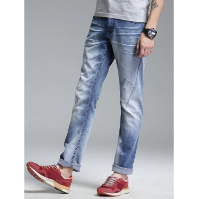 Zip Fly Pockets Straight Leg Jeans ремень armani jeans ремень