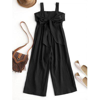 Empire Waisted Backless Wide Leg Jumpsuit
