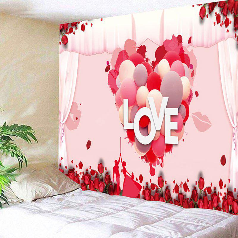 Valentine's Day Love Heart Print Wall Art Tapestry