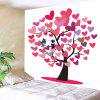 Valentine's Day Love Hearts Tree Birds Wall Art Tapestry - WHITE