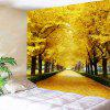 Avenue Trees Print Wall Art Tapestry - YELLOW