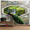 Peacock Waterfall Stone Wall Hanging Tapestry - COR MISTURA