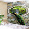 Peacock Waterfall Stone Wall Hanging Tapestry - COLORMIX