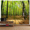 Forest Wood Grain Wall Hanging Tapestry - GREEN