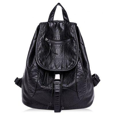 Multipurpose PU Leather Backpack with Handle