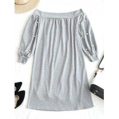 Off Shoulder Mini Beading DressWomens Dresses<br>Off Shoulder Mini Beading Dress<br><br>Dresses Length: Mini<br>Embellishment: Beading<br>Material: Polyester<br>Neckline: Off The Shoulder<br>Occasion: Casual, Going Out<br>Package Contents: 1 x Dress<br>Pattern Type: Solid Color<br>Season: Spring, Fall<br>Silhouette: Straight<br>Sleeve Length: Long Sleeves<br>Style: Casual<br>Weight: 0.4100kg<br>With Belt: No