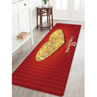 Sparkly Heart Pattern Valentine's Day Indoor Outdoor Area Rug