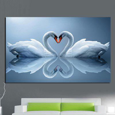Double Swan Pattern Wall Art Painting