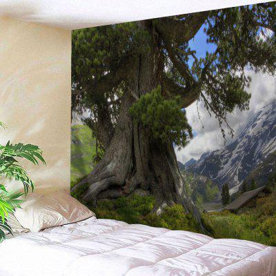 Wall Decoration Tree Mountains Print Tapestry