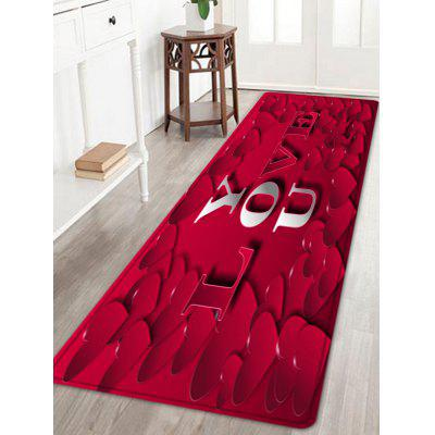 Love Heart Pattern Valentine's Day Indoor Outdoor Area Rug