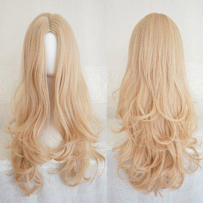 Long Center Parting Layered Wavy Capless Synthetic Wig